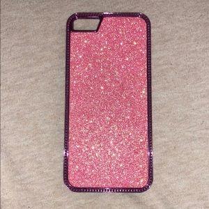 iPhone 5/5s light pink glitter case